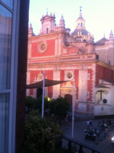 View of the Plaza from our balcony.