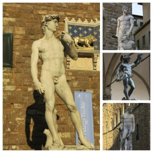 The David and a few other statues around Florence.