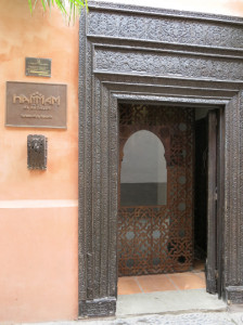 Entrance to the Hammam (no photos allowed inside).