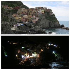 Manarola...by day and by night.