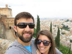 View from the top of the Alhambra.