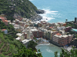 Descent into Vernazza from Monterosso