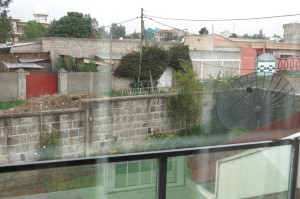 A view of our hosts' yard, street and neighborhood.