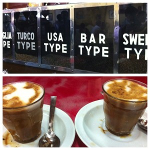 Delicious macchiatos at Tomoca.