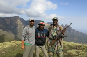 Grabbing a quick shot with Norr (middle) and Mehabo (right… again, with the M16) after a great four days.