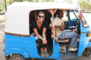 Finally! A ride in a Tuk Tuk. Small but mighty.