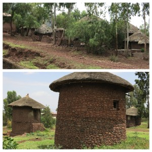 Typical Lalibela homes - two floors, with 5 - 7 family members living within.