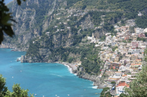View of Positano as we walked down the endless steps.