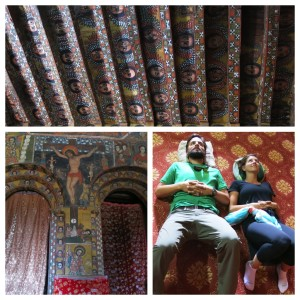 Dave and I seeking inspiration from Selassie Church