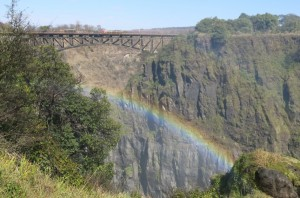 Bridge on Zimbabwe side from which brave souls bungeed.