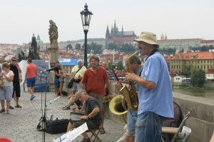 Performers on Charles Bridge