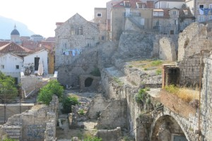 View of ruins within the Old Town walls...UNESCO has declared the city a World Heritage site, so any new building is carefully monitored