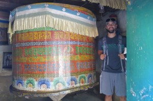 Giant prayer wheels are often found, housed in ancient buildings and spun only in groups of odd numbers.