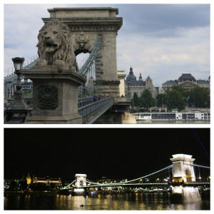 Chain Bridge...by day and night.