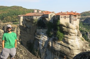 Me with Varlaam monastery in the background.