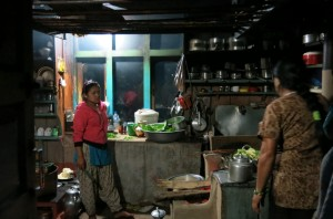 A typical kitchen.