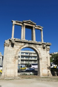 Arch of Hadrian, a Roman gateway built in, you know, 131 or 132 AD.