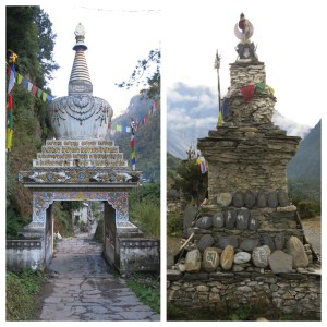 Another common sight in Buddhist areas, these stupas litter the Annapurna hillsides.