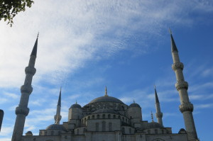 Blue Mosque from the back.