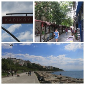 Taking in the streets and waterfront path on the Asian side of the city in Kadikoy.