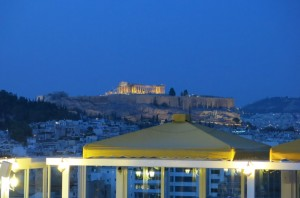 View of Acropolis from THE BEST HOTEL IN THE WORLD.