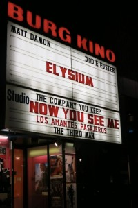 Movie theater sign copy