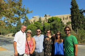 Posse in front of Acropolis