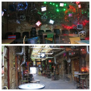 Ruin Pub room. Christmas lights not your thing? You have options.