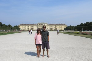 A beautiful day at Schonbrunn Palace.