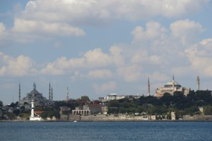 Good view of Sultanahmet across the water.