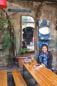 At one of the more popular Ruin Pubs, Szimpla.