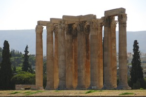 The Temple of Zeus, an ancient Greek temple putting the arch's age to shame as it was built between 472 and 456 BC,