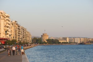 The White Tower along Thessaloniki's waterfront.