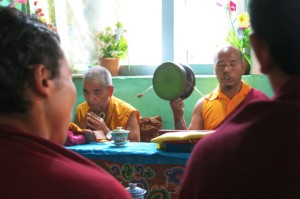 In X, we were invited into the family home for a funeral ceremony, where 10 monks prayed (and would continue to do so every 7th day for X days) for the grandfather who had recently passed.