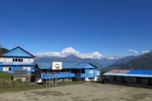 A court with a view (Dhaulagiri in the background again).