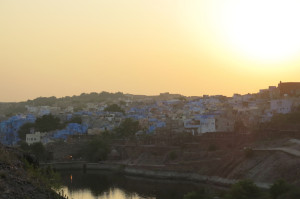 The sun setting on our last full day in India.