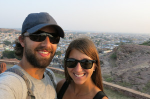 Up above the city just before sunset on our first full day in Jodhpur.