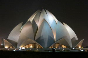 And finally, Lotus Temple. Again taken from a distance, since the 2.5hr commute to arrive here unfortunately ended just as they shut the gates for the day. Still impressive form afar, the entire structure is built from marble to look like a lotus flower.