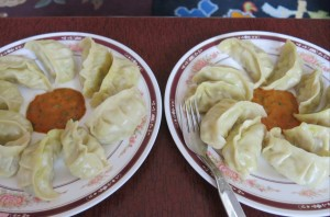 Our final product. Consumed in about a tenth of the time it took to actually make the momos.