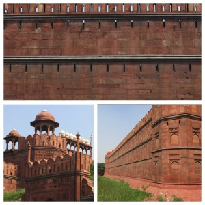Red Fort, built by the same Mughal Emperor who commissioned the Taj Mahal, is pretty imposing from the exterior.