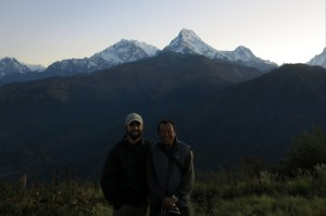 Posing with Nima with the Annapurna range behind us.