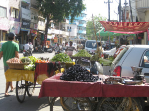 Walking by some of the street markets around the city.