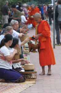 Note the crowd leaning about a foot from the procession of monks in the background.