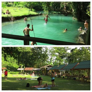 Rope swings and a lazy park area at the Lagoon led to some amazing people watching.