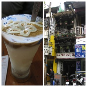 """Yogurt coffee"" from Ca Phe Duy Truy near West Lake. Basically just frozen yogurt with a hint of coffee flavor, but delicious nonetheless."