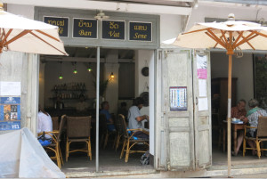 Cafe Ban Vat Sene, one of our favorites in town.