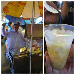 The popular SE Asian dessert, Chè, was everywhere. Made with beans or rice, or...something...it's delicious. And rain or shine, this guy was the friendliest vendor in Saigon.
