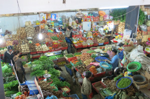 The huge spread of local produce.