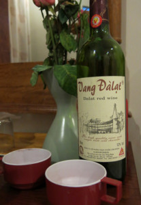 Dalat's local red wine. Best enjoyed in bed while hibernating for a day of TV watching.