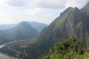 View back down into Nong Khiaw.